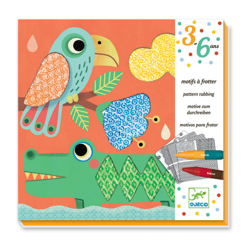 Design 3 to 6 years - Colouring Patterns to rub - Magalis friends