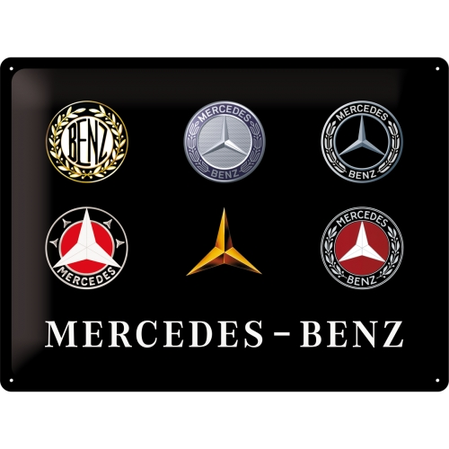 Nostalgic Μεταλλικος πινακας Mercedes-Benz - Logo Evolution